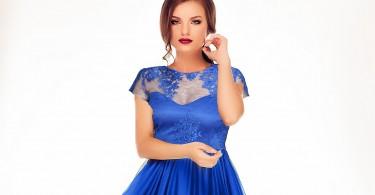rochie albastra lunga