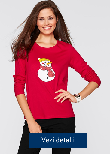 bluza de dama cu modele de Craciun