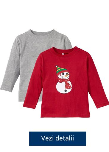 Bluzite pentru copii cu om de zapada