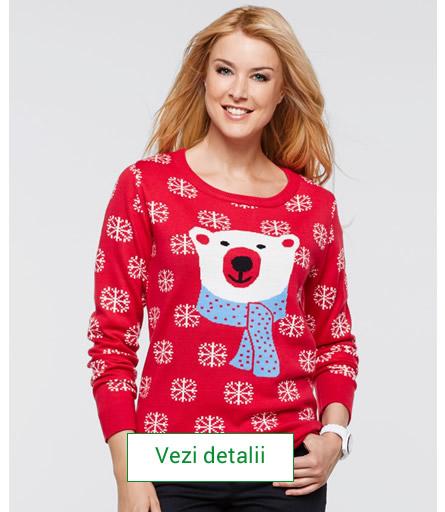 pulover cu model de craciun