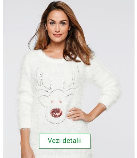 pulover de dama cu reni