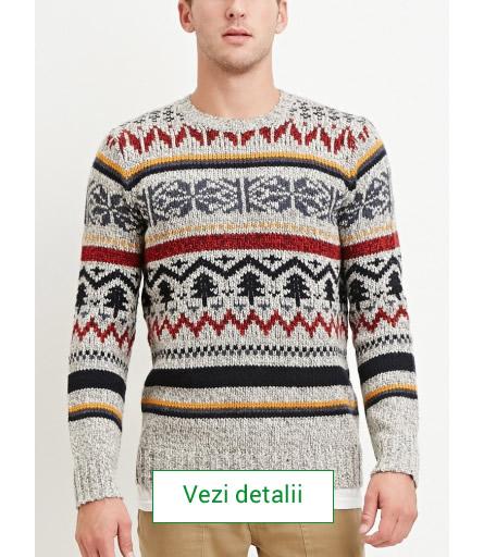 pulover de barbati cu brazi