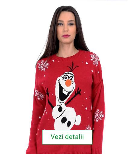 pulover de dama cu motive de craciun. Olaf
