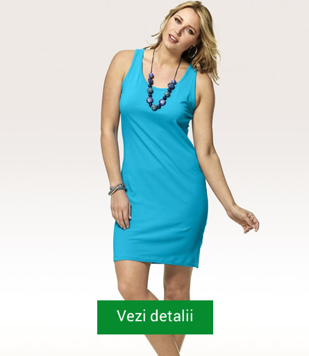 Rochie albastra pentru femei plinute