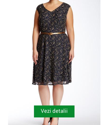 Rochie cu curea in talie pentru femei plinute