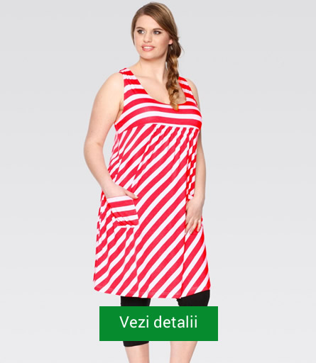 rochie rosie pentru grasute