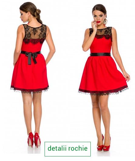 rochie de revelion rosie