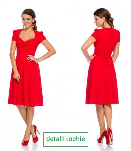 rochie rosie de revelion