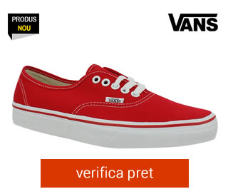 Tenisi rosii Vans Authentic
