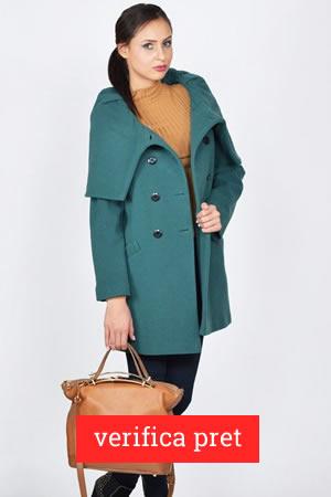 Palton de dama verde cu reducere de 49%