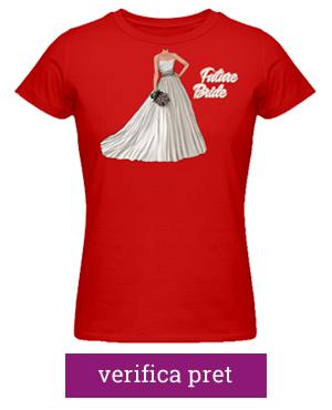 tricou pentru burlacite rosu ideaplaza