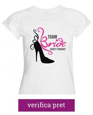 tricouri pentru petrecerea burlacitelor team bride party tonight