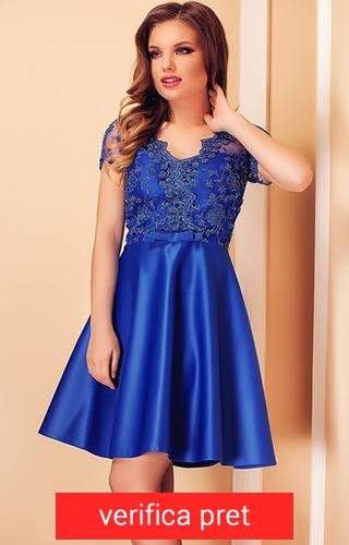 Rochie albastra din satin