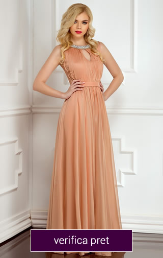 Rochie lunga culoare bej