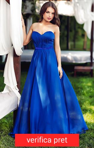 Rochie lunga culoarea albastru electric