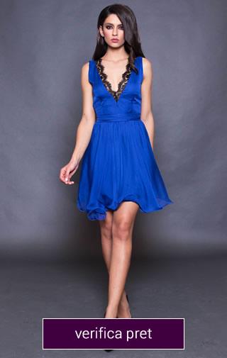 rochie de ocazie scurta albastru electric