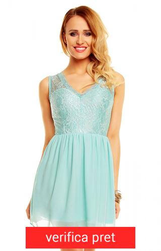 rochie din voal albastra deschis