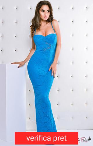 rochie lunga mulata albastra