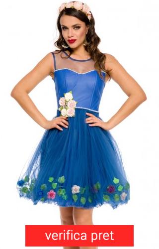 rochie scurta albastra sping