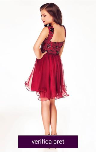 rochie scurta culoarea rosie