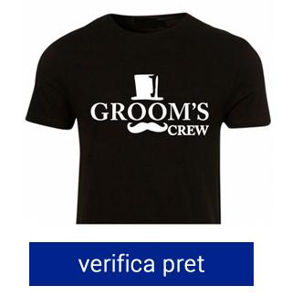 tricou pentru burlaci the groom's crew