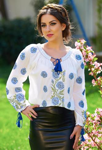 Bluza tip ie romaneasca cu flori