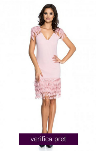 rochie domnisoara de onoare roz