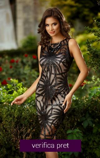 rochie scurta domnisoara de onoare neagra