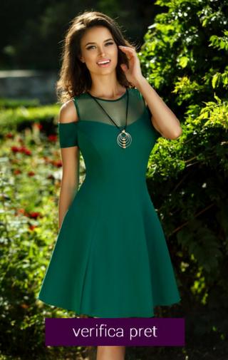 rochie domnisoara de onoare verde