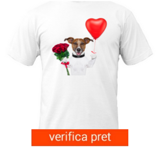 Tricou I Love You Dog