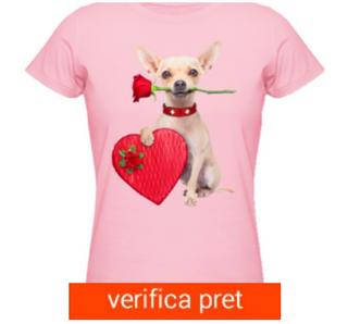 Tricou Valentines Chihuahua