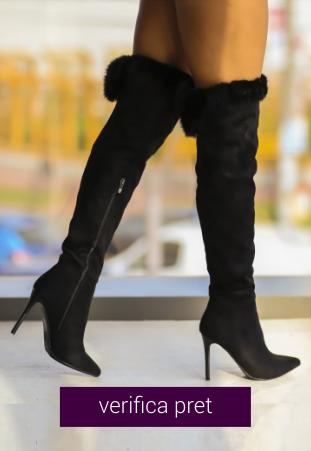 Cizme peste genunchi Luxuri negre