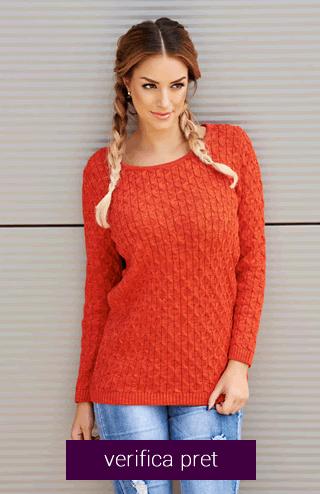 Pulover portocaliu
