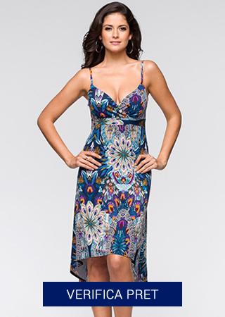 rochie de plaja colorata