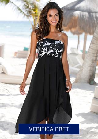 rochie de plaja neagra