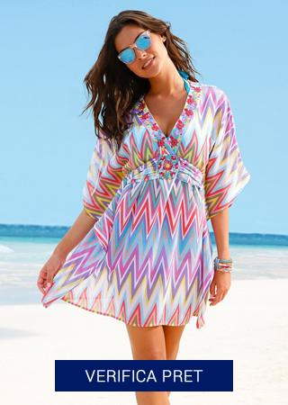 rochie de plaja scurta colorata