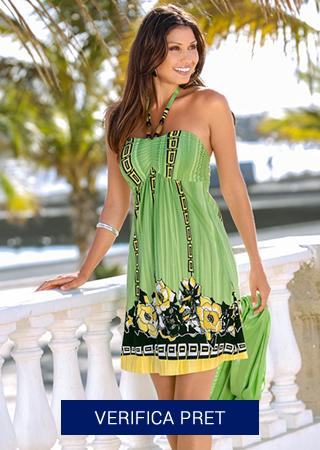 rochie de plaja verde