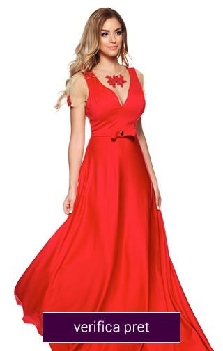 rochii rosii domnisoare de onoare