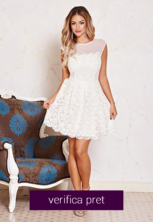 Rochie alba Fofy Charming Look Nude