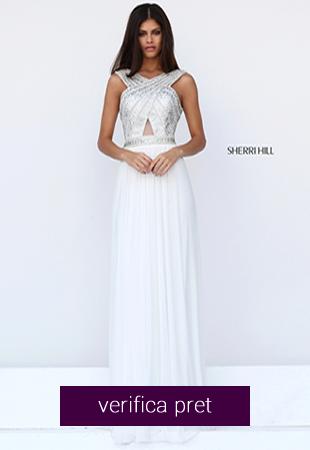 Rochie alba eleganta de ocazii speciale