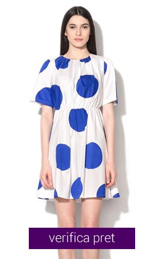 Rochie cu buline albastre