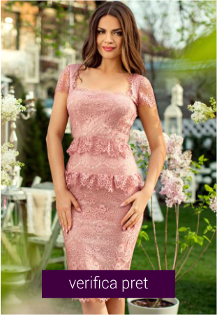 Rochie din dantela roz