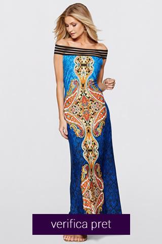 Rochie de vara culoarea albastru multicolor