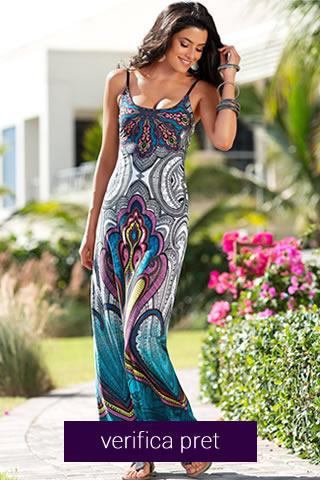 Rochie de vara lunga colorata