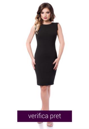 Rochie eleganta neagra cu spatele gol