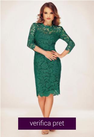 Rochie eleganta verde smarald din dantela