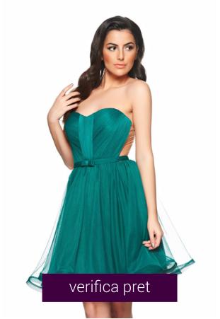Rochie verde scurta