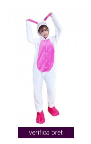 pijama pufoasa love bunny
