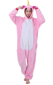 Pijama intreaga kigurumi model Pink unicorn